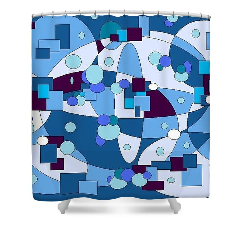 Digital Artwork Shower Curtain featuring the digital art Nightall by Jordana Sands