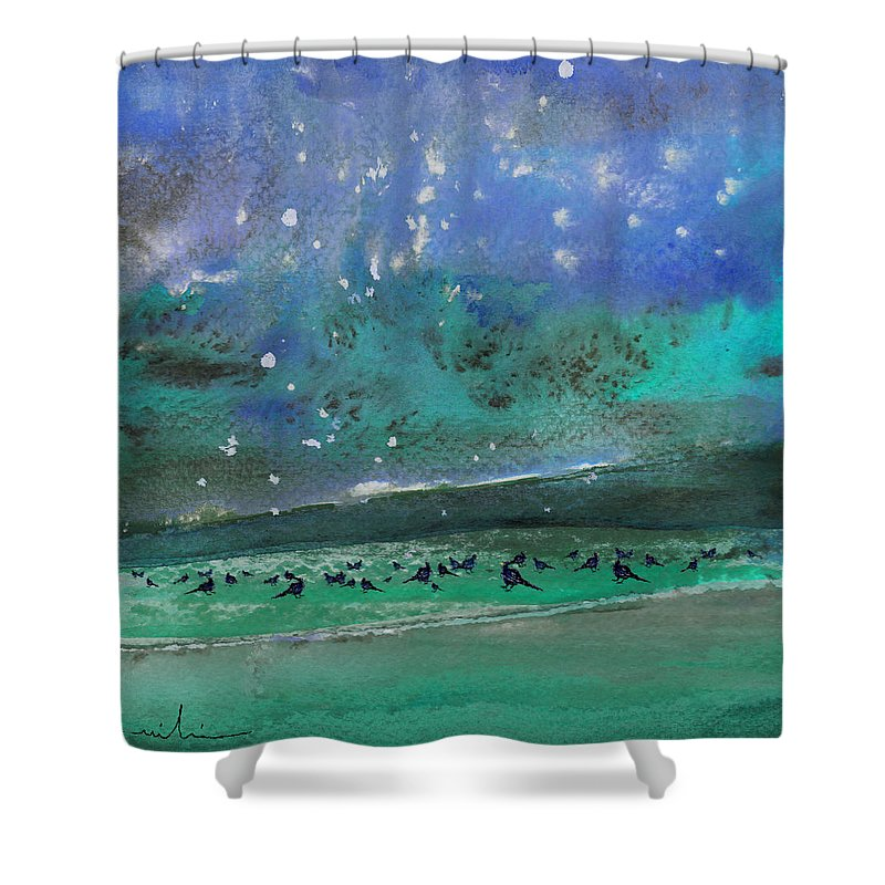 Impressionism Shower Curtain featuring the painting Nightfall 25 by Miki De Goodaboom