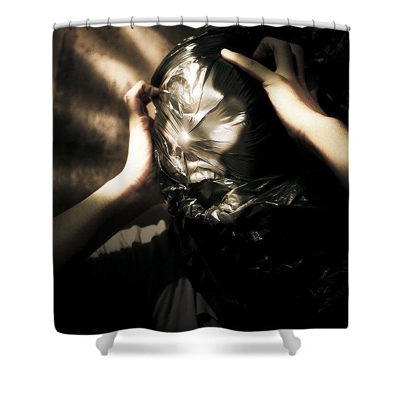 Adult Shower Curtain featuring the photograph Nightmare Screams by Jorgo Photography - Wall Art Gallery