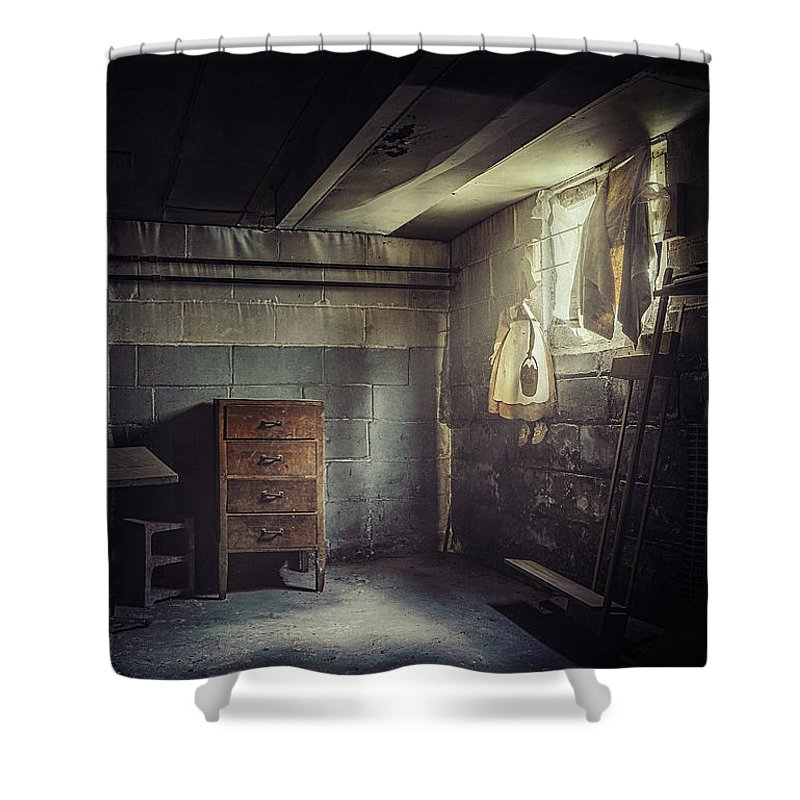 Basement Shower Curtain featuring the photograph No Escape by Scott Norris