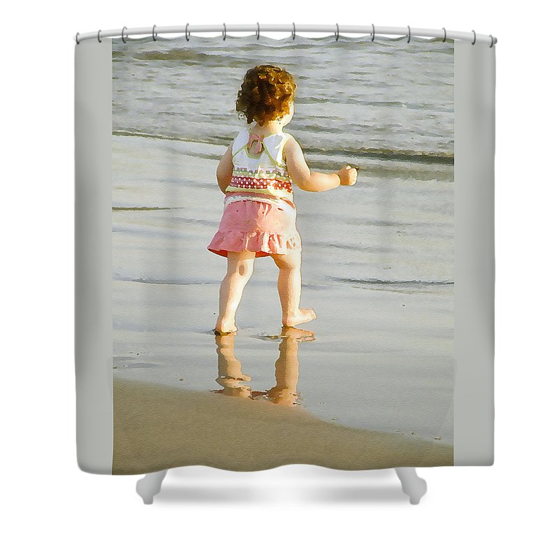 Beach Shower Curtain featuring the photograph No Fear by Margie Wildblood