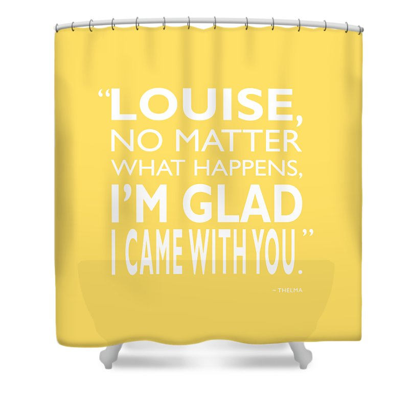 Thelma & Louise Shower Curtain featuring the photograph No Matter What Happens by Mark Rogan
