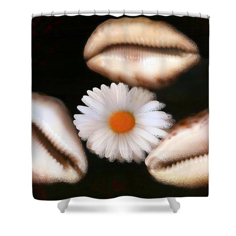 Art Shower Curtain featuring the mixed media No Oil In This Ocean by Pepita Selles