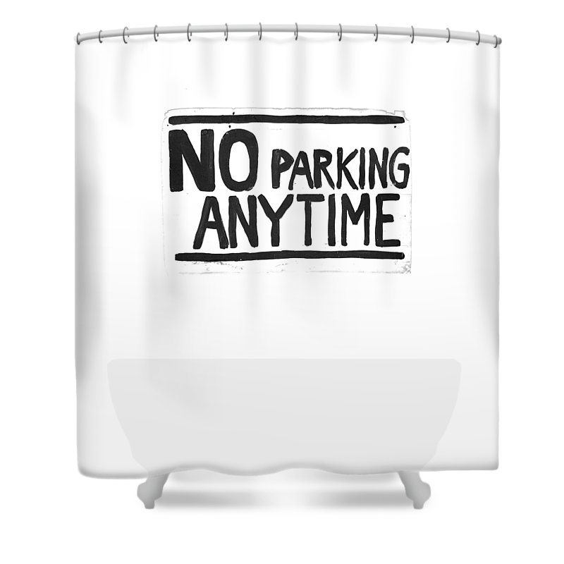 Sign Shower Curtain featuring the drawing No Parking by H James Hoff