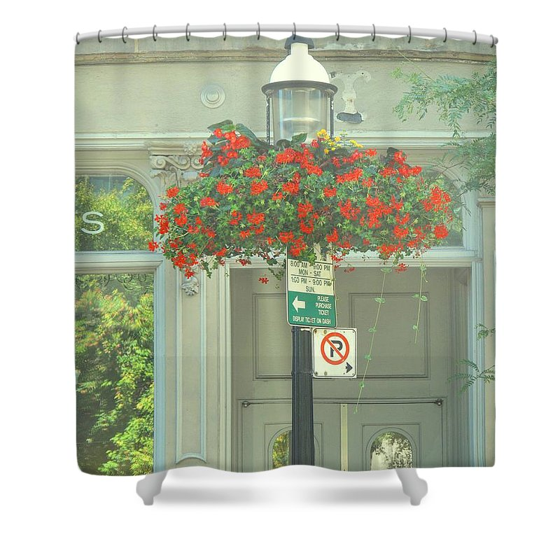 Shower Curtain featuring the photograph No Parking by Ian MacDonald