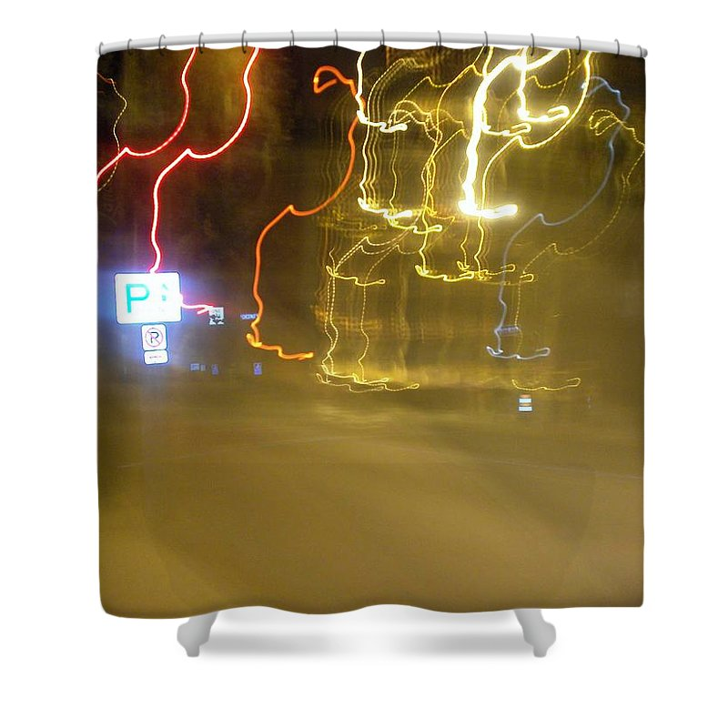 Photograph Shower Curtain featuring the photograph No Parking by Thomas Valentine