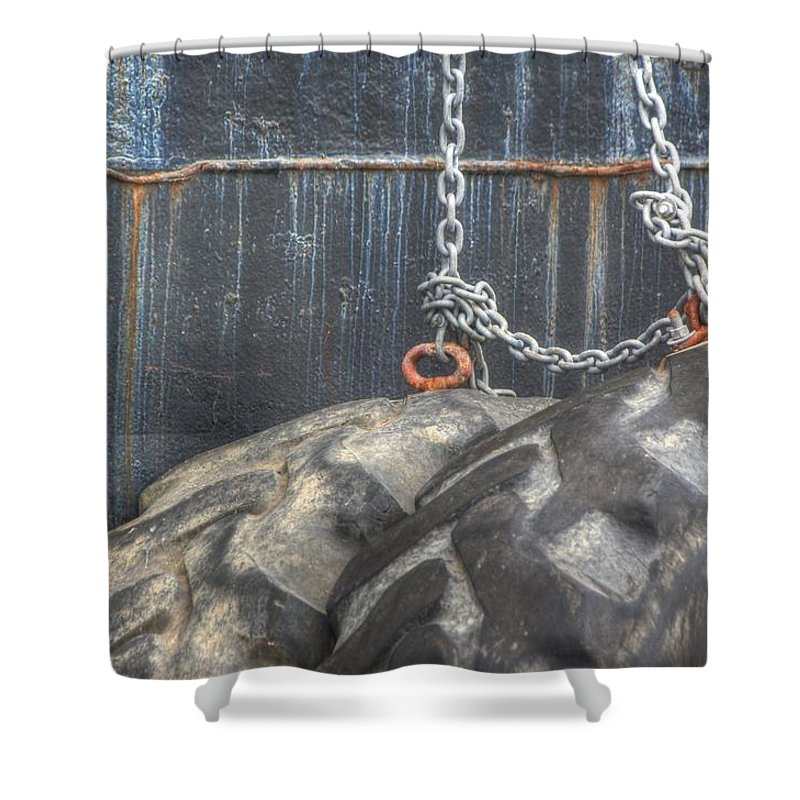 White Shower Curtain featuring the photograph No Strings Attached by Dorothy Hilde
