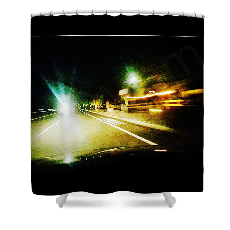 Conception Shower Curtain featuring the photograph No Time by Edu Aram