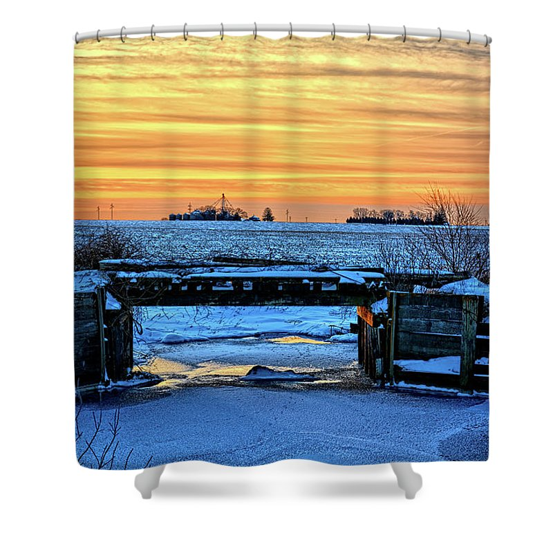 Bridge Shower Curtain featuring the photograph No Trains by Bonfire Photography