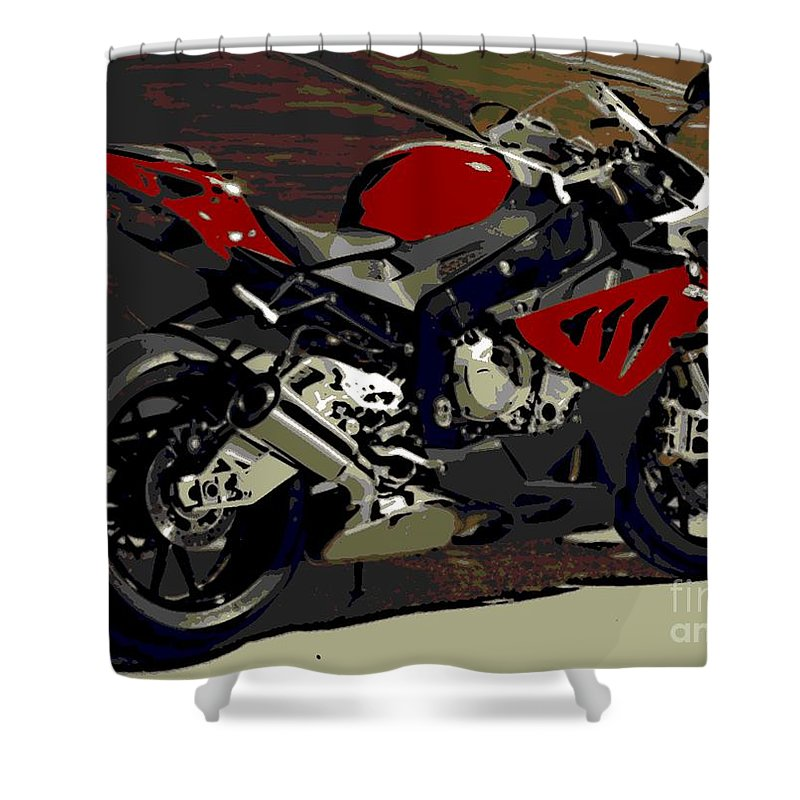 Bmw Shower Curtain featuring the photograph No Words Needed by George Pedro