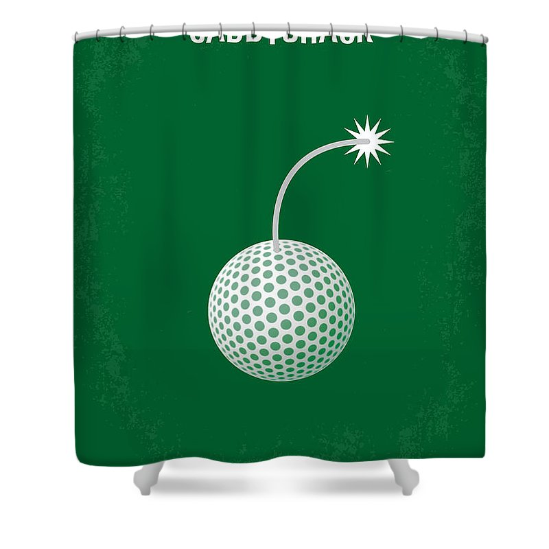 Caddyshack Shower Curtain featuring the digital art No013 My Caddy Shack Minimal Movie Poster by Chungkong Art