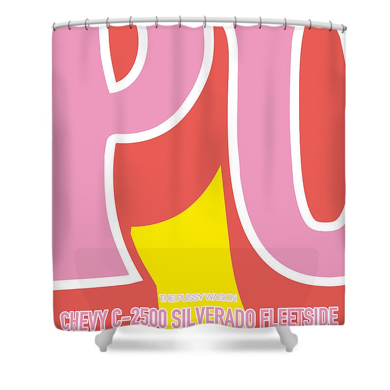 Chevy Shower Curtain Featuring The Digital Art No013 My Kill Bill Minimal Movie Car Poster By