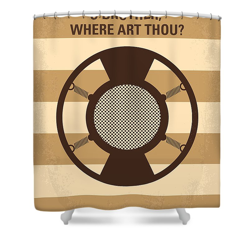 O Shower Curtain featuring the digital art No055 My O Brother Where Art Thou Minimal Movie Poster by Chungkong Art