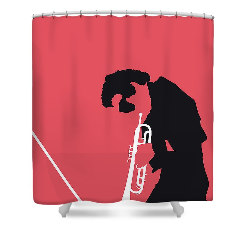 Miles Shower Curtain featuring the digital art No082 My Miles Davis Minimal Music Poster by Chungkong Art