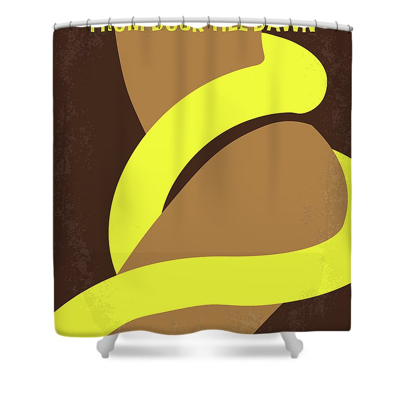 From Shower Curtain Featuring The Digital Art No127 My Dusk This Dawn Minimal Movie Poster