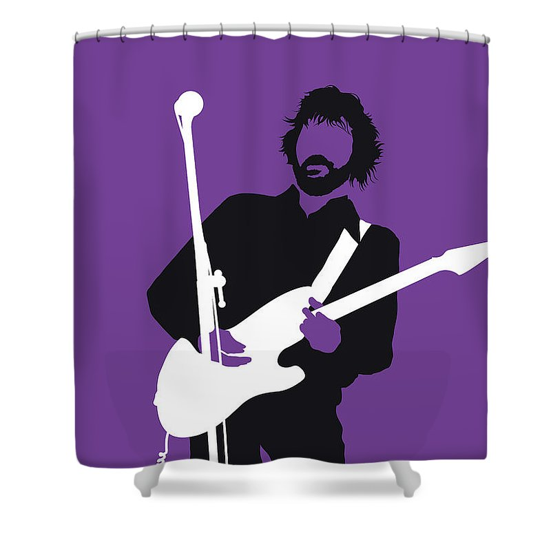 Eric Shower Curtain featuring the digital art No141 My Eric Clapton Minimal Music Poster by Chungkong Art