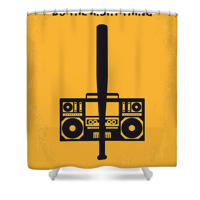 Do The Right Thing Shower Curtain featuring the digital art No179 My Do The Right Thing Minimal Movie Poster by Chungkong Art