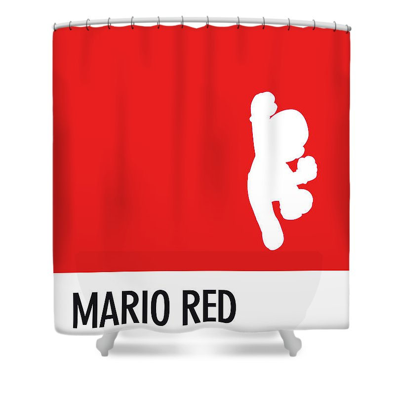 Mario Shower Curtain Featuring The Digital Art No33 My Minimal Color Code Poster By Chungkong