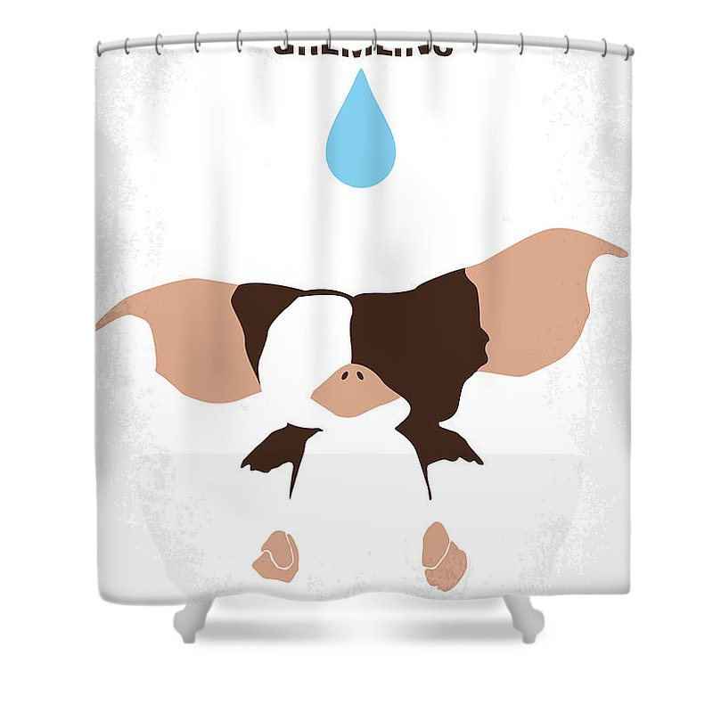 0d7d0342f120 Gremlins Shower Curtain featuring the digital art No451 My Gremlins Minimal  Movie Poster by Chungkong Art