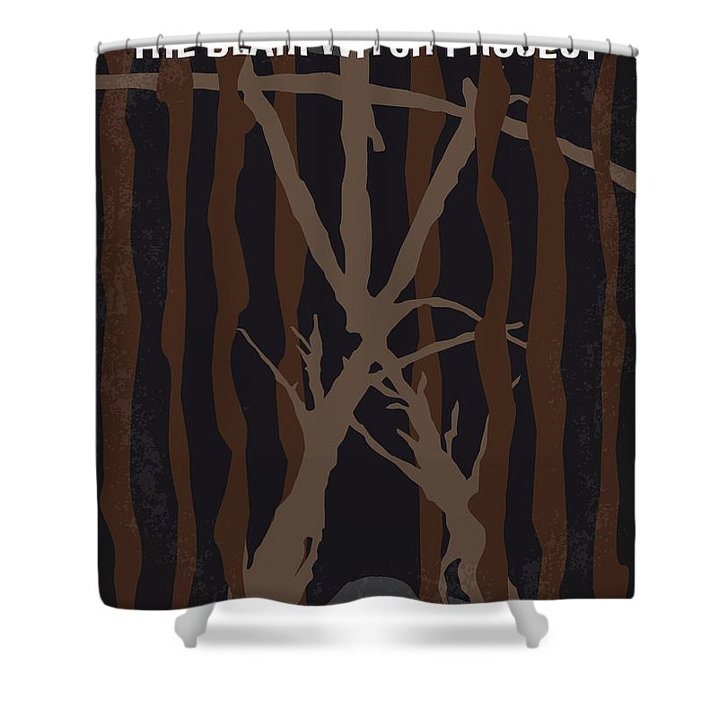 Blair Shower Curtain featuring the digital art No476 My The Blair Witch Project Minimal Movie Poster by Chungkong Art
