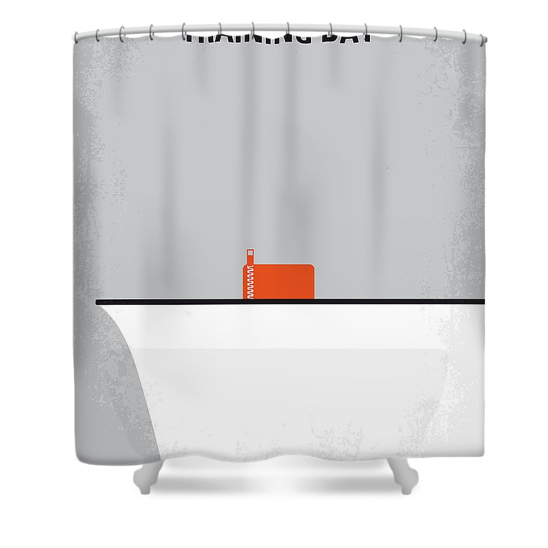 Training Shower Curtain Featuring The Digital Art No497 My Day Minimal Movie Poster By Chungkong