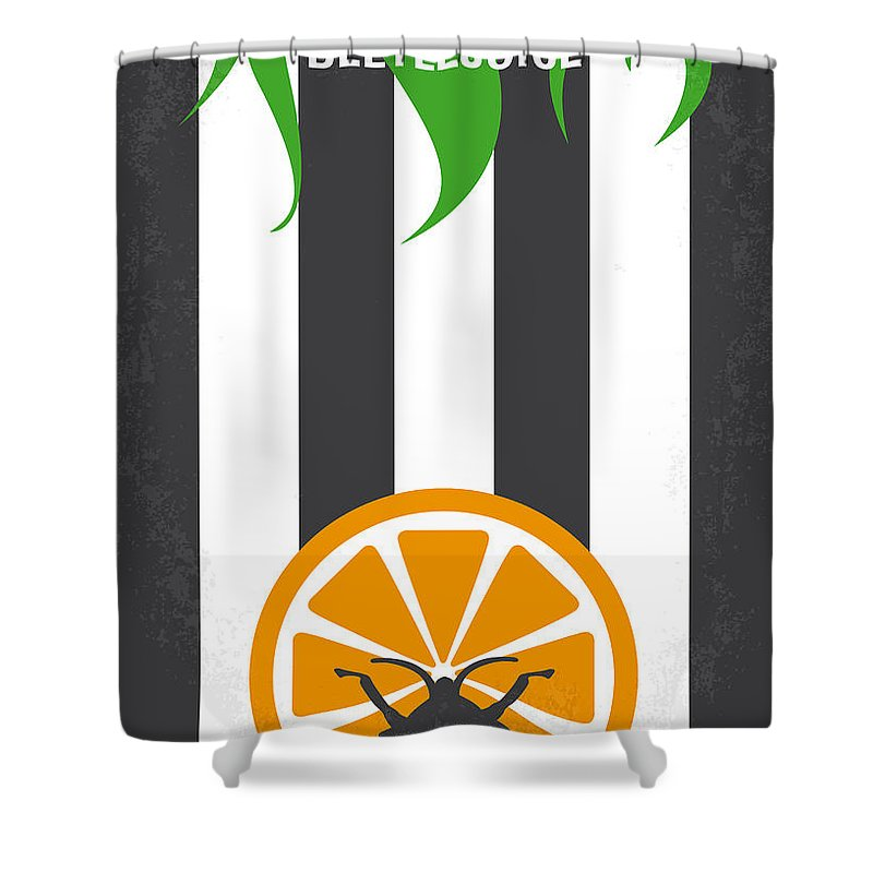 Beetlejuice Shower Curtain Featuring The Digital Art No531 My Minimal Movie Poster By Chungkong