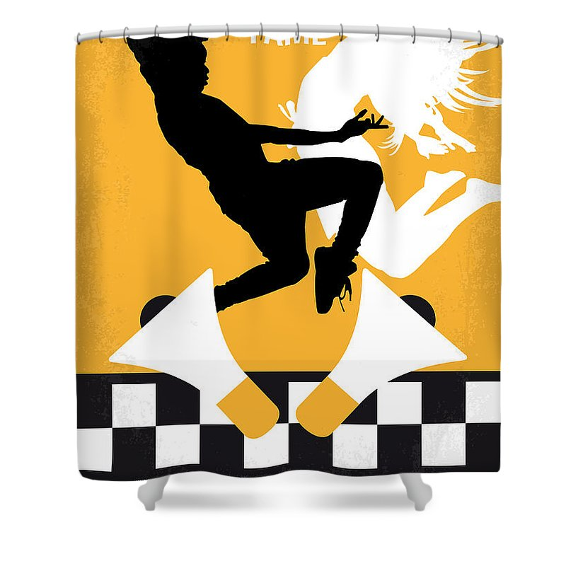 Fame Shower Curtain featuring the digital art No619 My Fame Minimal Movie Poster by Chungkong Art