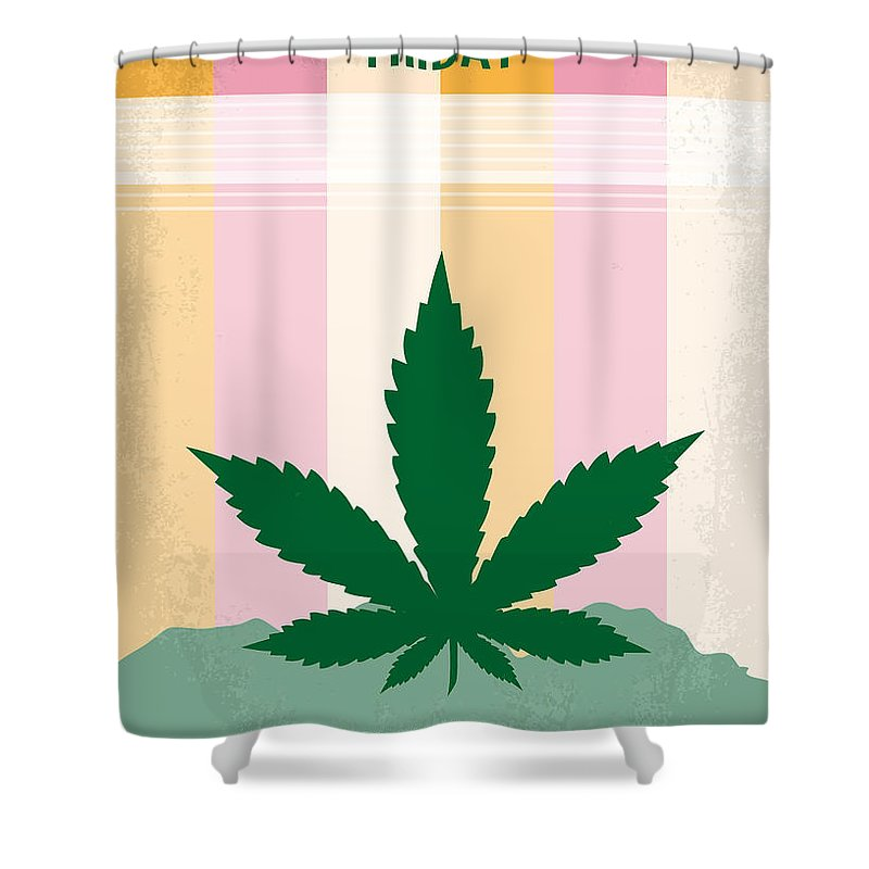 Friday Shower Curtain featuring the digital art No634 My Friday Minimal Movie Poster by Chungkong Art