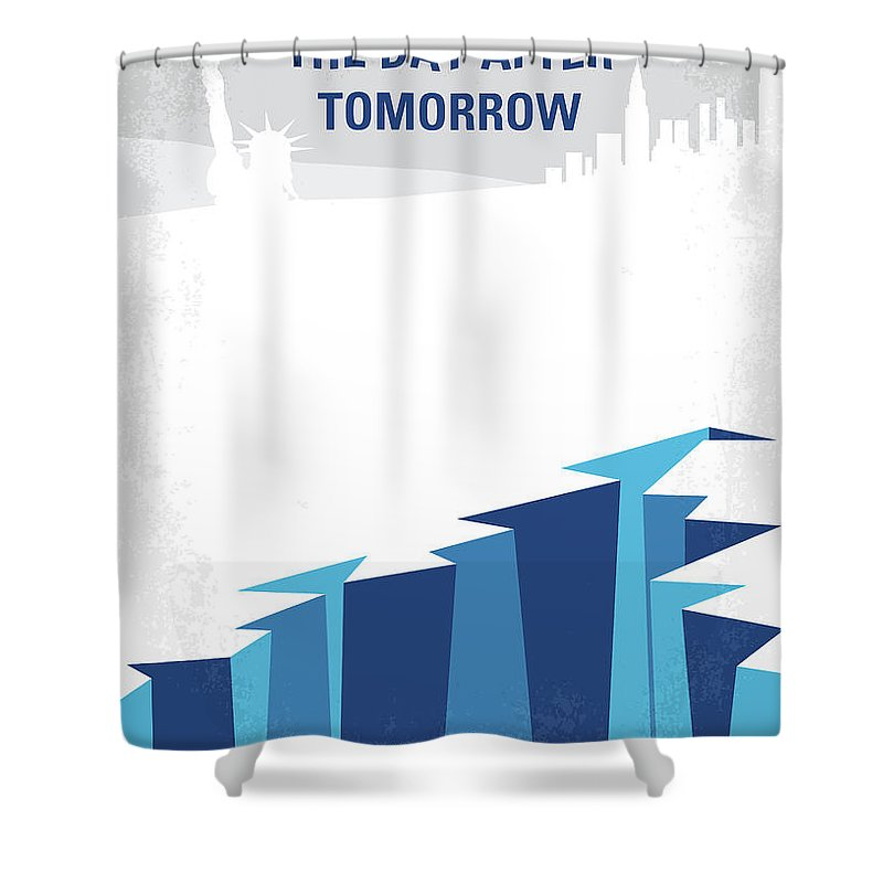 The Shower Curtain Featuring Digital Art No651 My Day After Tomorrow Minimal Movie Poster