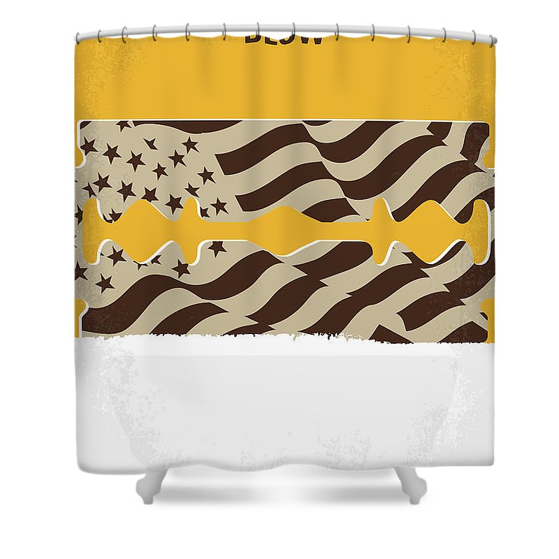 Blow Shower Curtain Featuring The Digital Art No693 My Minimal Movie Poster By Chungkong