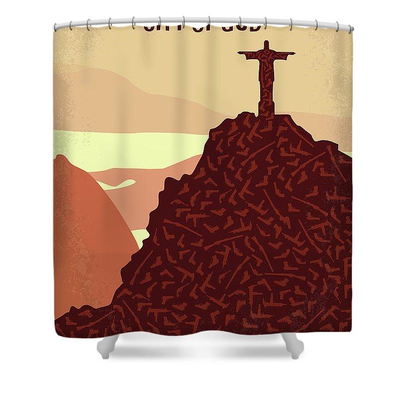 God Of War Digital Art Shower Curtains