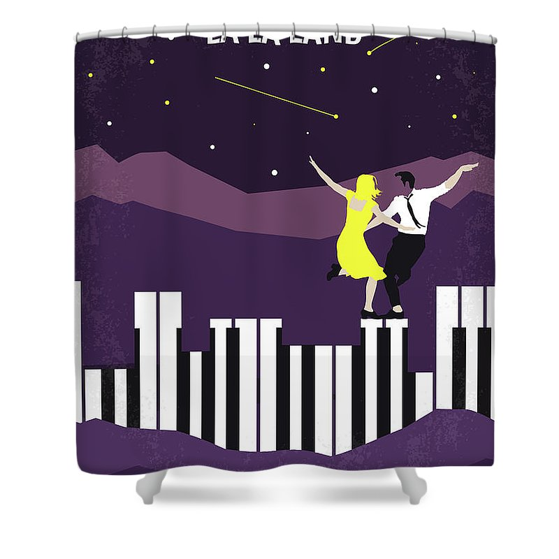 La Shower Curtain Featuring The Digital Art No756 My Land Minimal Movie Poster By