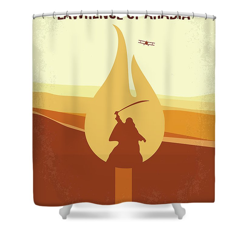 Lawrence Shower Curtain Featuring The Digital Art No772 My Of Arabia Minimal Movie Poster By