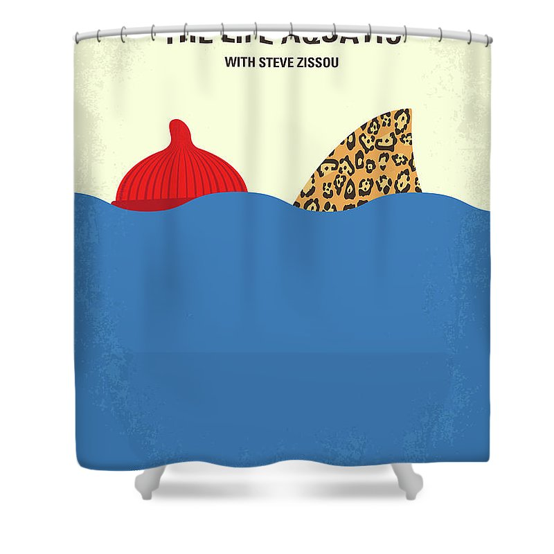 The Shower Curtain Featuring Digital Art No774 My Life Aquatic With Steve Zissou Minimal