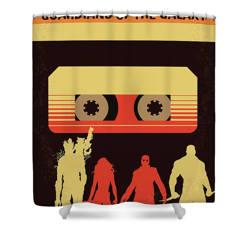 Guardians Shower Curtain featuring the digital art No812 My Guardians Of The Galaxy Minimal Movie Poster by Chungkong Art