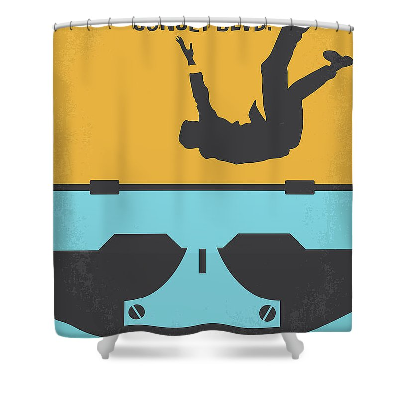 Sunset Shower Curtain Featuring The Digital Art No813 My Blvd Minimal Movie Poster By Chungkong