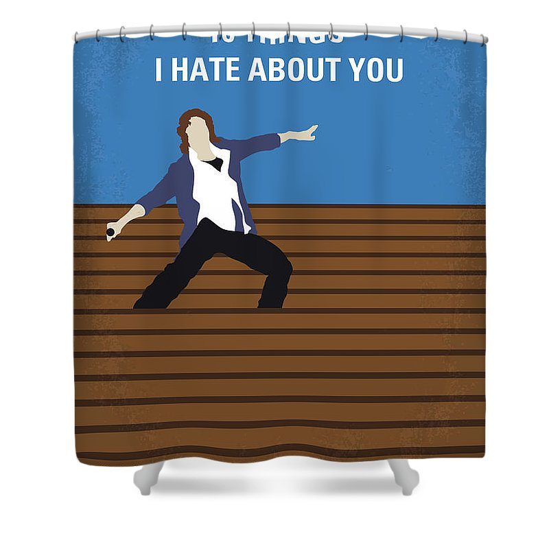 10 Shower Curtain featuring the digital art No850 My 10 Things I Hate About You Minimal Movie Poster by Chungkong Art
