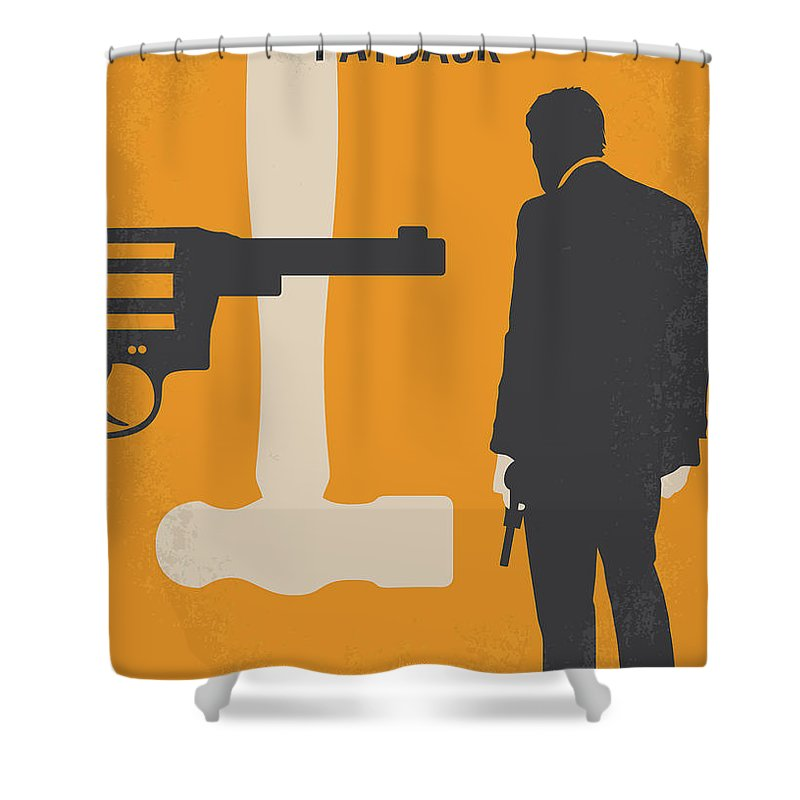 Payback Shower Curtain featuring the digital art No854 My Payback Minimal Movie Poster by Chungkong Art