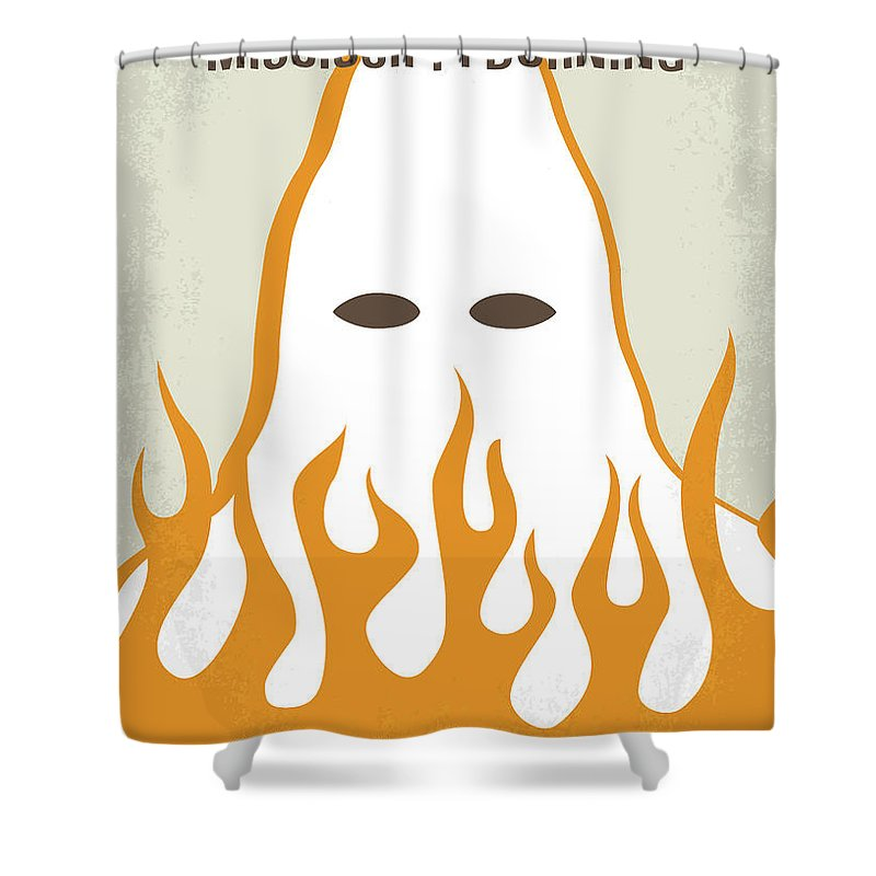 Mississippi Shower Curtain Featuring The Digital Art No882 My Burning Minimal Movie Poster By Chungkong