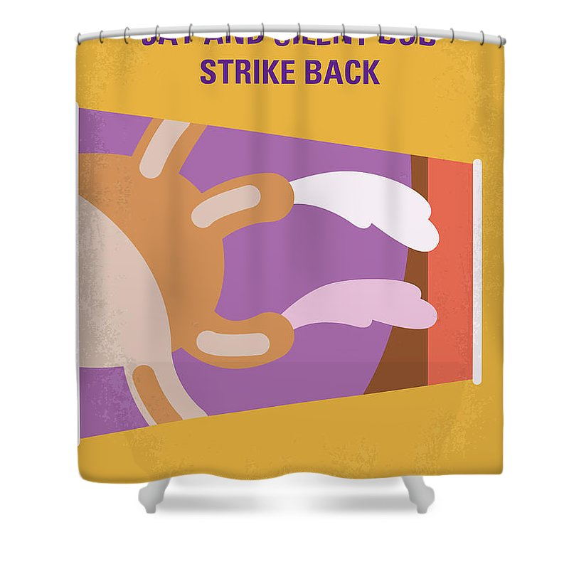 Jay Shower Curtain Featuring The Digital Art No889 My And Silent Bob Strike Back Minimal