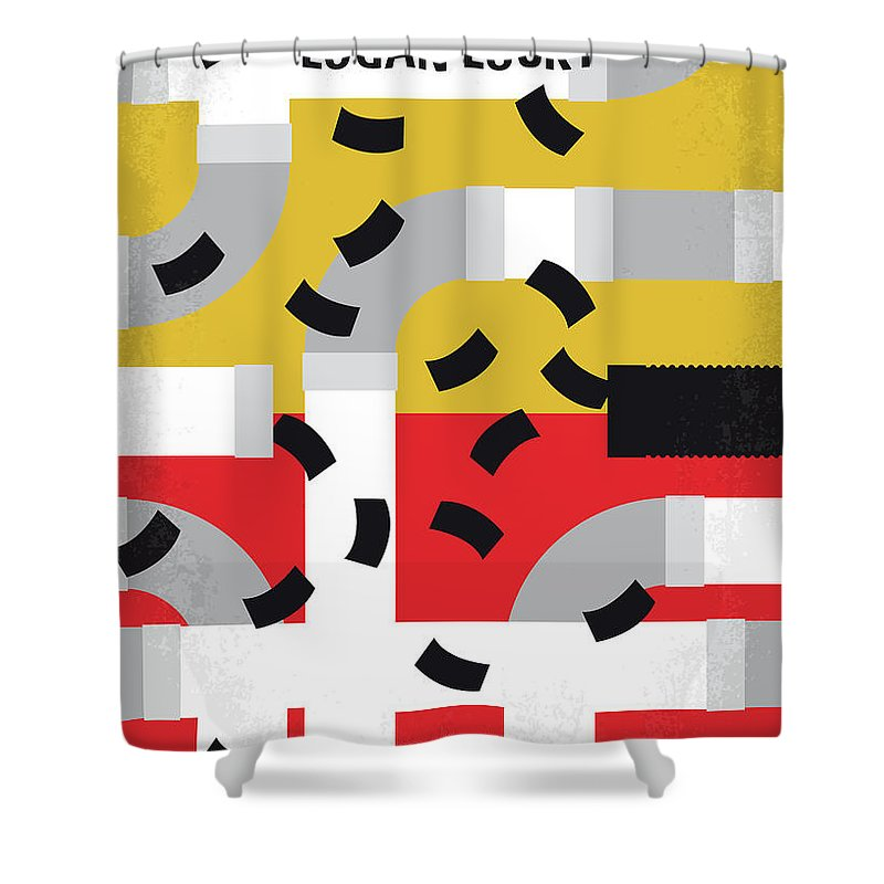 Logan Shower Curtain Featuring The Digital Art No911 My Lucky Minimal Movie Poster By Chungkong