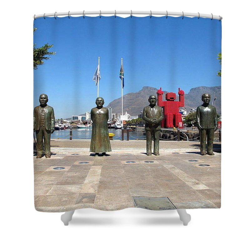 Nobel Square Shower Curtain featuring the photograph Noble Square by Cindy Kellogg