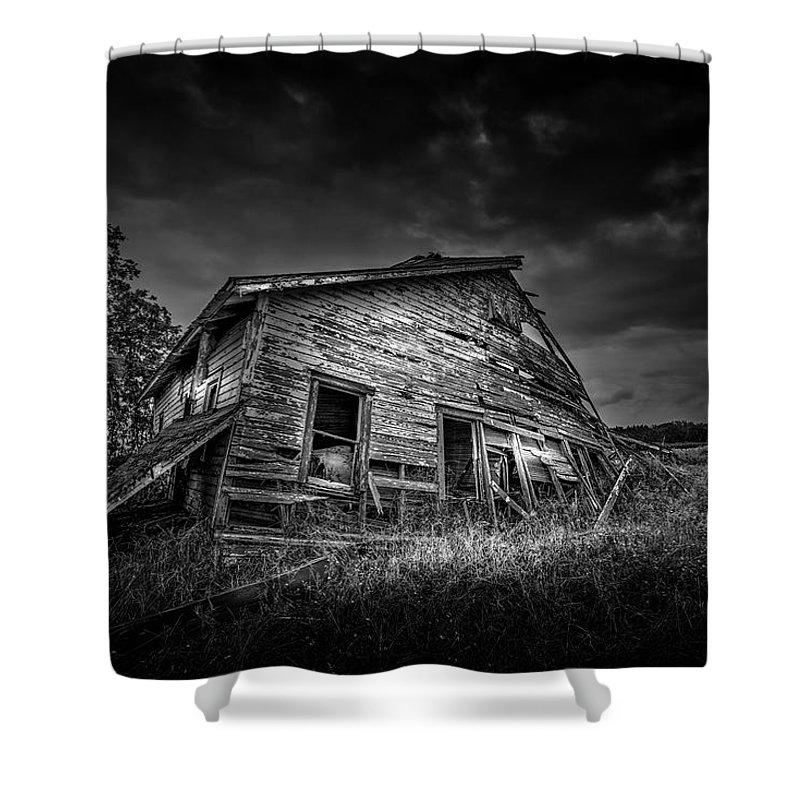 House Shower Curtain featuring the photograph Nobody's Home by Marvin Spates