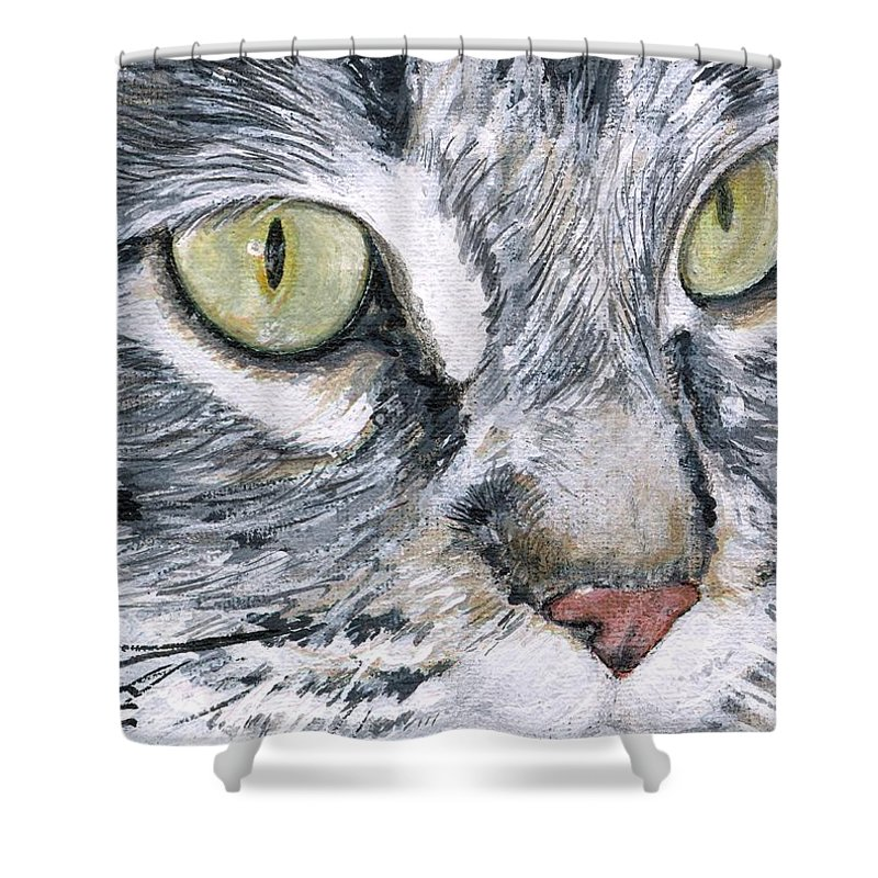 Charity Shower Curtain featuring the painting Noel by Mary-Lee Sanders
