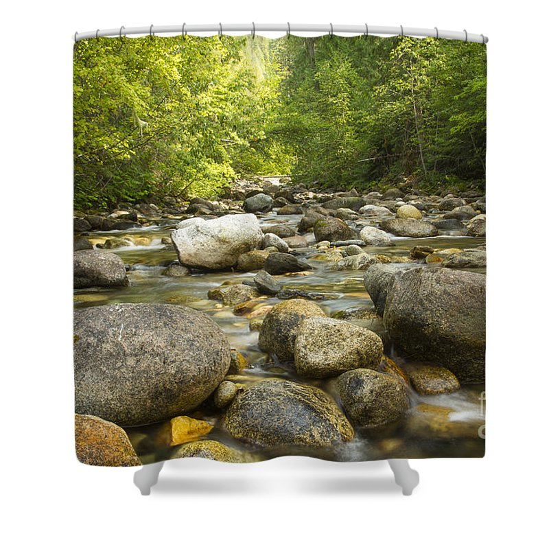 Inland Empire Shower Curtain featuring the photograph Noisy Creek by Idaho Scenic Images Linda Lantzy