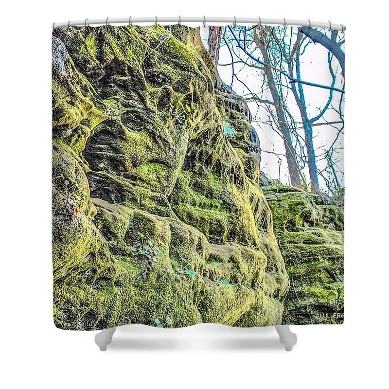 Rock Shower Curtain featuring the photograph Nooks And Crannies by Chad Fuller