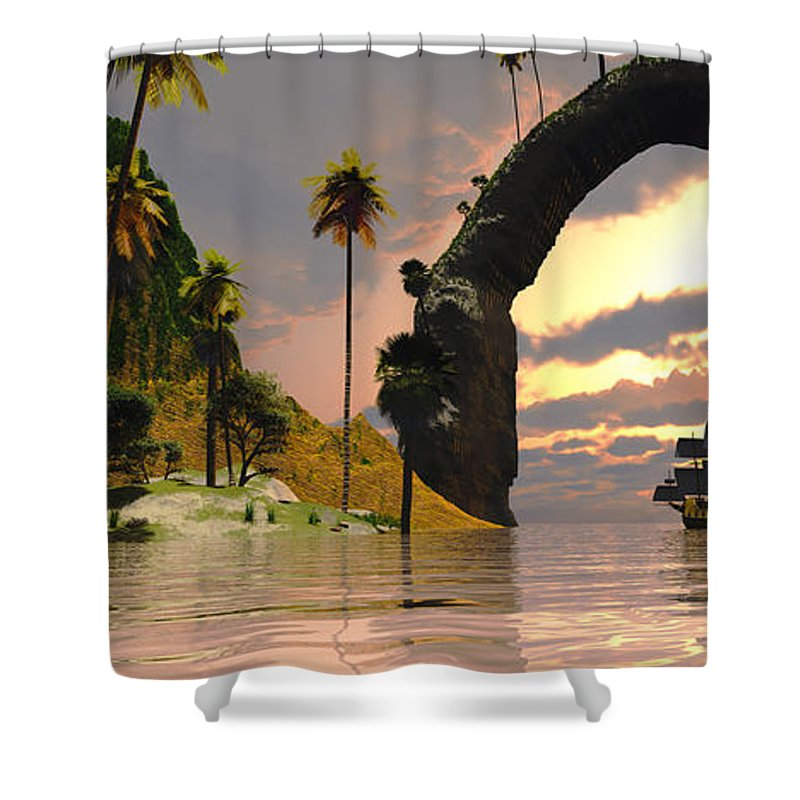 Sailing Shower Curtain featuring the painting Nor Valley by Corey Ford