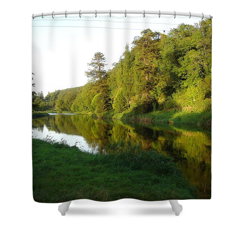 Nore Shower Curtain featuring the photograph Nore Reflections I by Kelly Mezzapelle