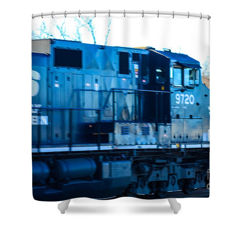 Bound Brook Nj Shower Curtain featuring the photograph Norfolk Southern Engine 9720 by William Rogers