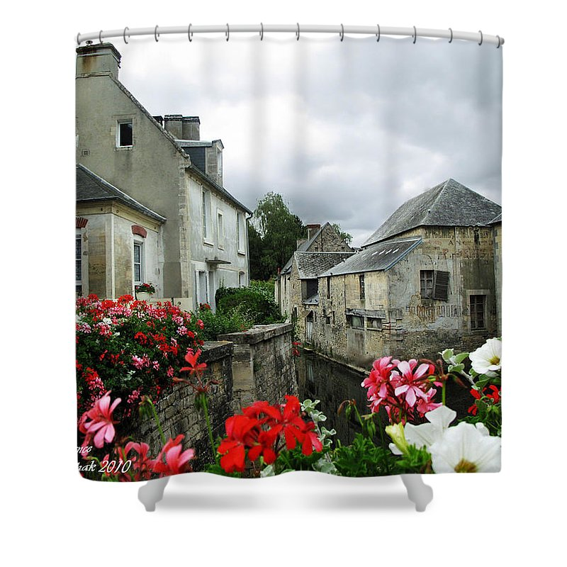 Normandy Shower Curtain featuring the photograph Normandy Arrival by Joan Minchak